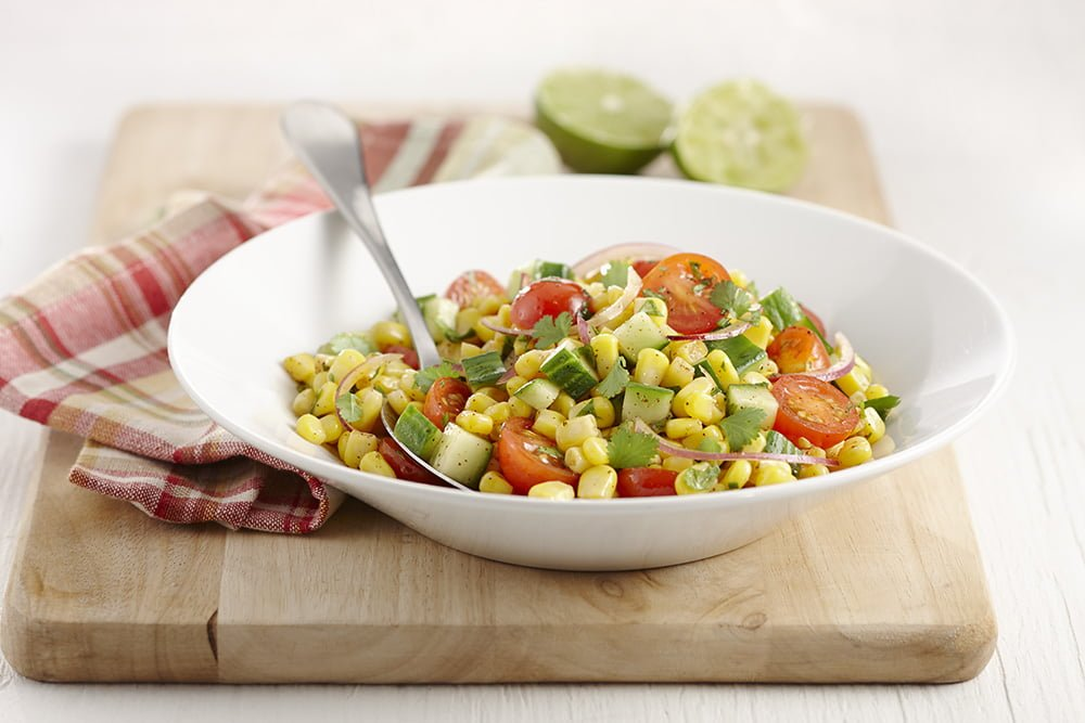 Corn and cherry tomato salad