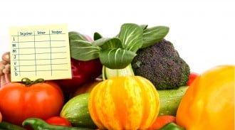 Planification des repas avec plusieurs légumes