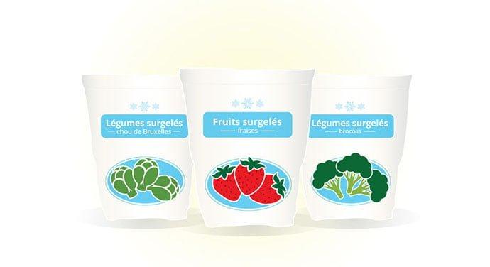 Fruits et légumes surgelés