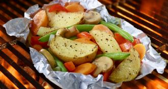 Les légumes sur le bbq