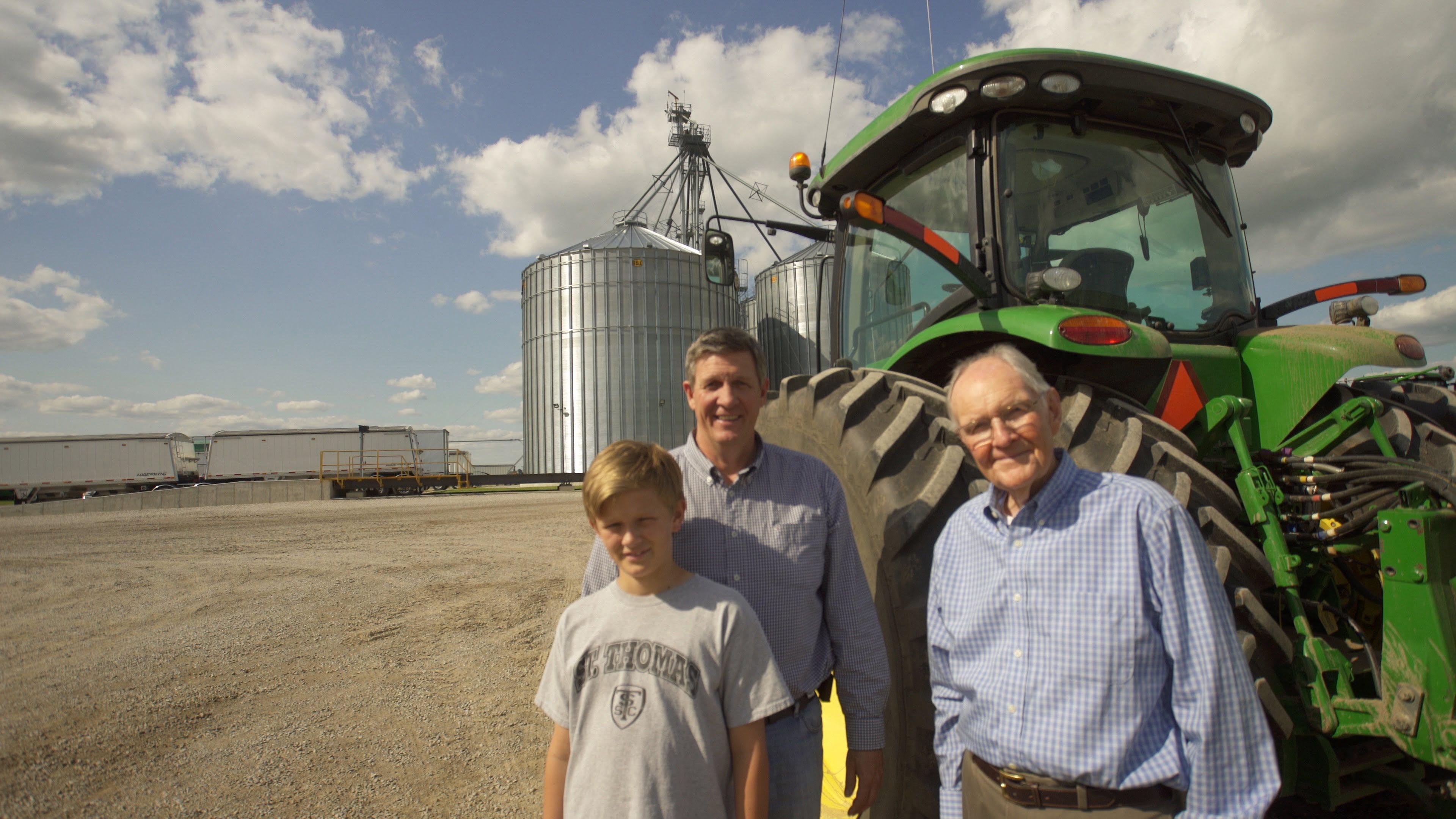 Mac, Grant and Rod Ferguson on their farm