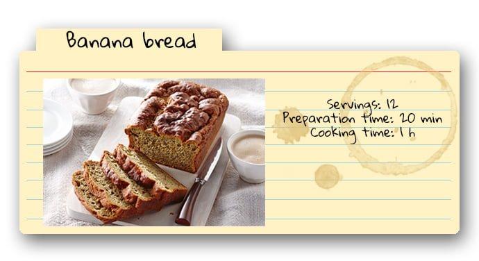 banana bread recipe card - photo #29