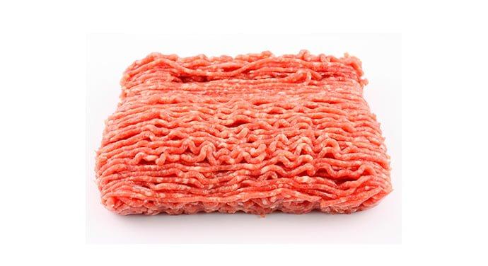 Viande hachée rouge