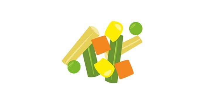 Macédoine de légumes surgelés