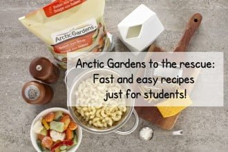 Arctic Gardens to the rescue : Fast and easy recipes just for students!