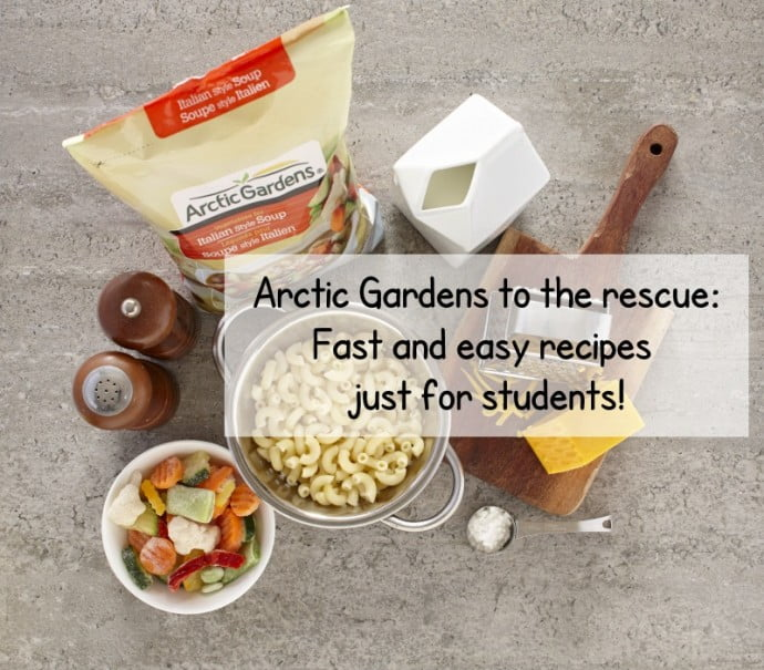Fast and easy recipes for college and university students arctic gardens to the rescue fast and easy recipes just for students forumfinder Gallery