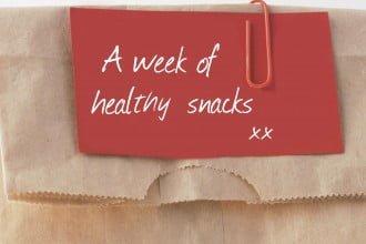 A week of healthy snacks