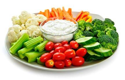 Assiette de légumes assortis