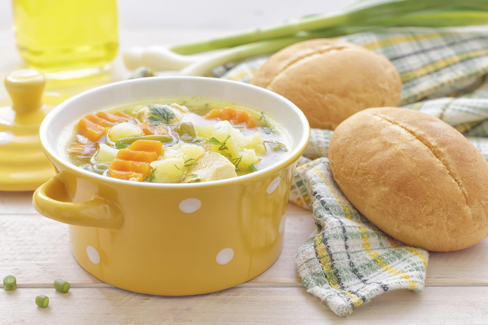 Soupe avec pain
