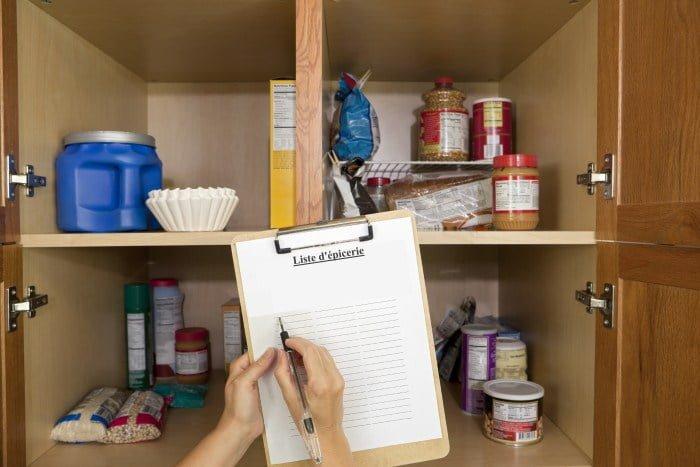 L'inventaire de ses armoires de cuisine