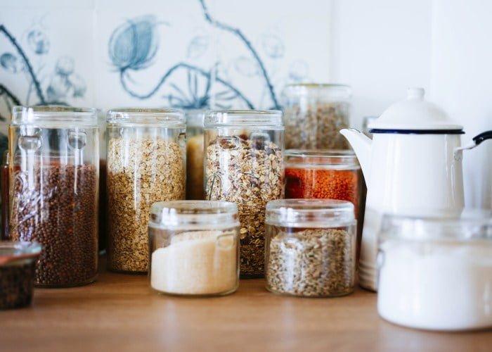 Des contenants pour les aliments secs