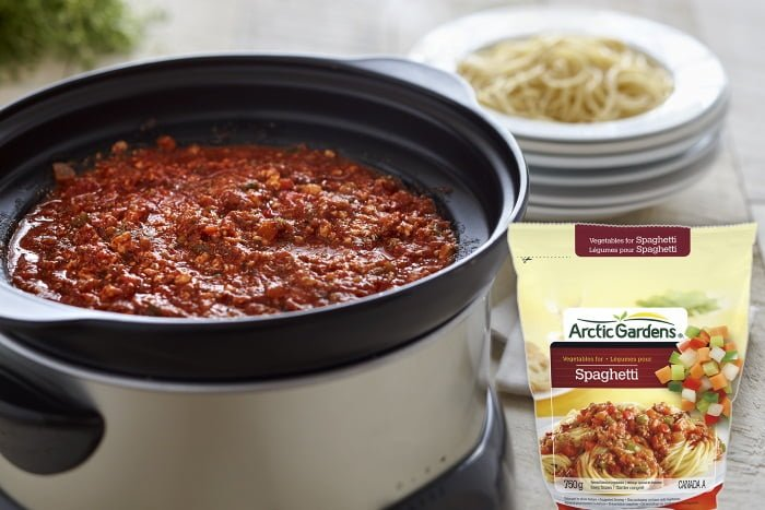 Spaghetti végé à la mijoteuse