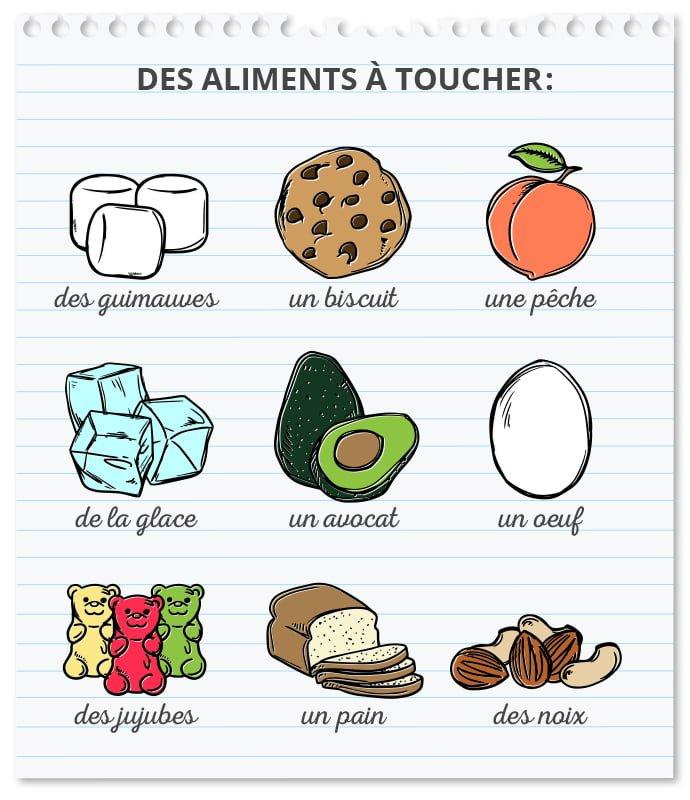 Des aliments à toucher