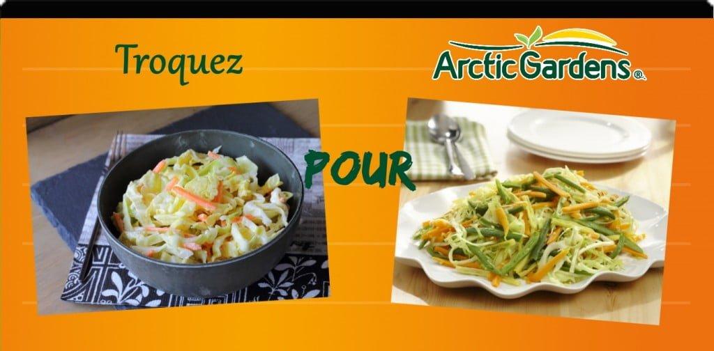 salade de chou vs achards de légumes