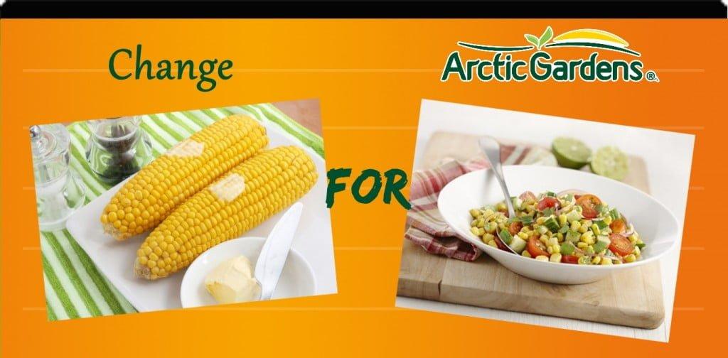 Corn vs corn and cherry tomatoes salad