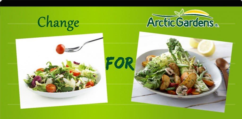 Greean salad vs warm potato salad with grilled lettuce