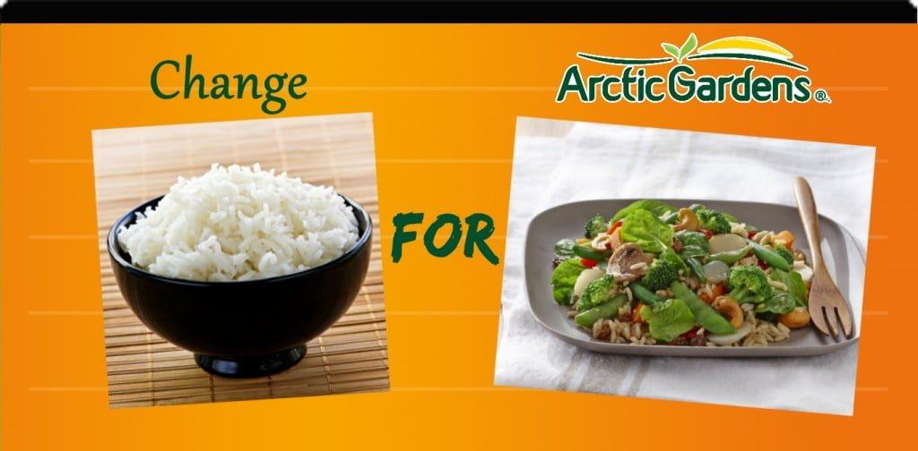 Rice vs Asian vegetables and rice salad