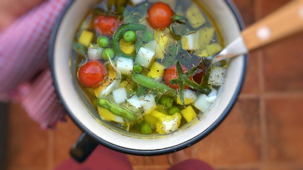 Cauliflower Stem Vegetable Soup