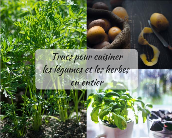 Cuisiner les légumes et herbes en entier