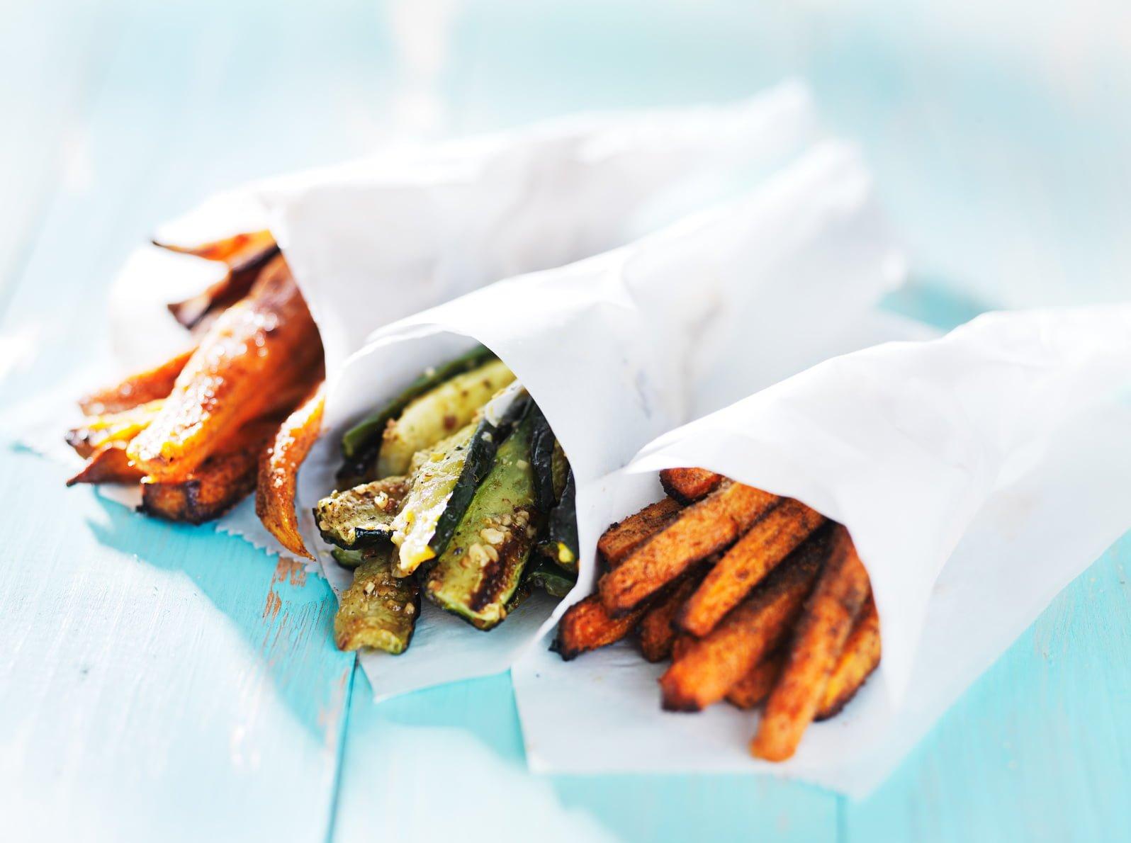 Cornets de frites aux légumes