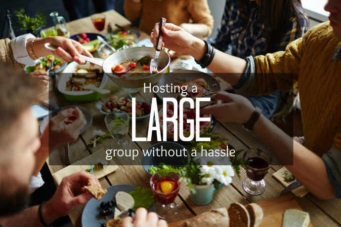 Hosting a large groupe without a hle | Arctic Gardens on