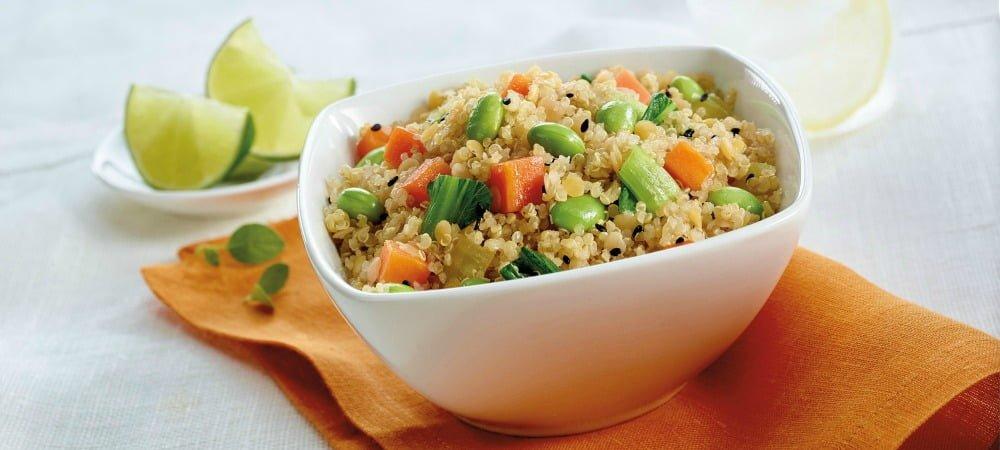 Quinoa et fèves de soja