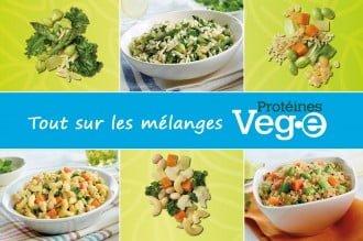 Tout sur les mélanges Protéines Veg•e