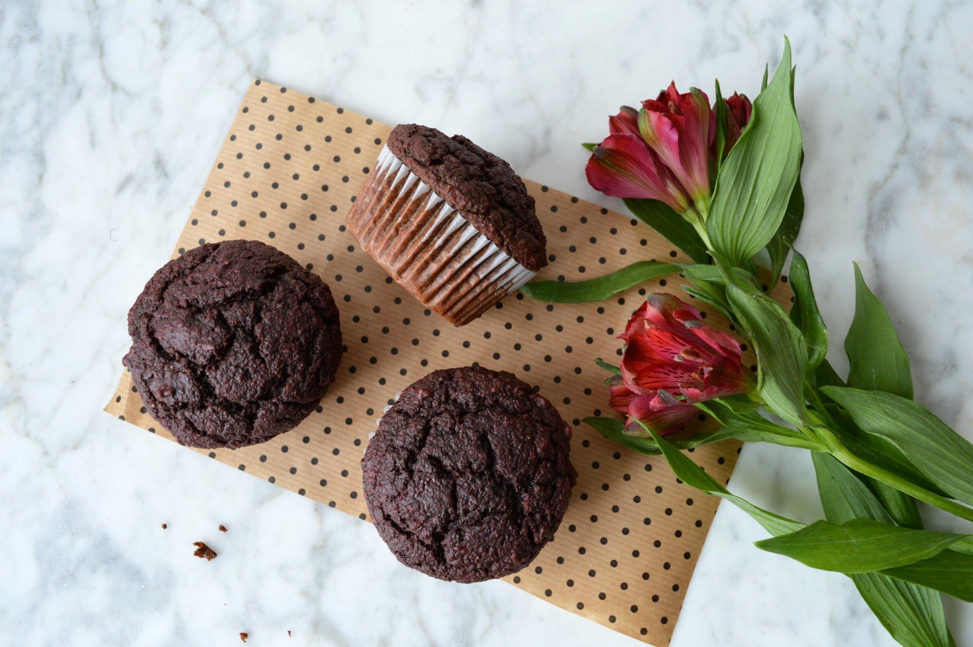 Muffins et fleurs