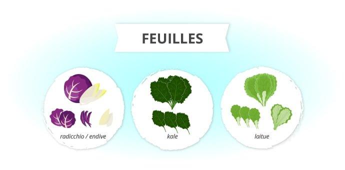 légumes en feuilles