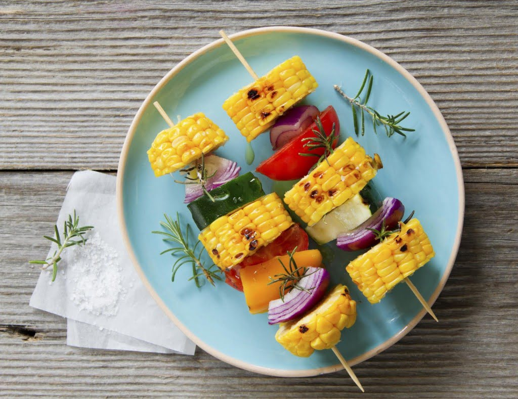 Brochettes de légumes au BBQ