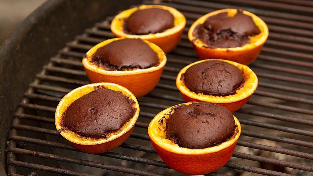 Cupcake chocolat orange au BBQ