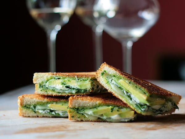 Green goddess grilled-cheese
