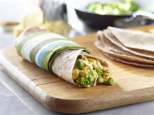 wrap déjeuner légumes
