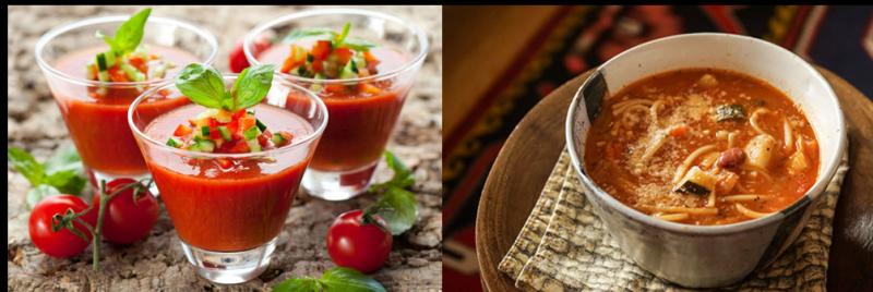 gaspacho et minestrone