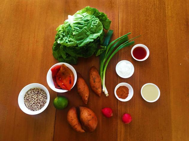 Ingrédients de la recette de patates douces Goodfood