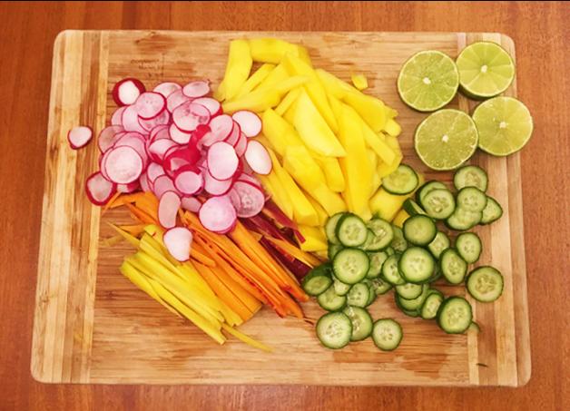 Ingrédients de la recette poke végétarien de MissFresh