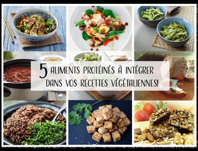 Aliments protéinés pour recettes végétaliennes