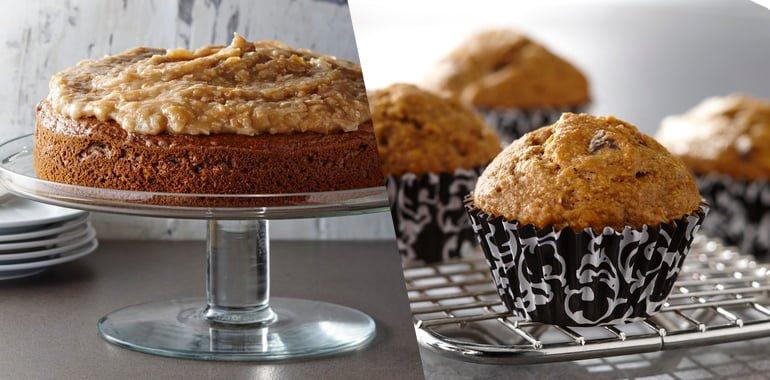 Gateau et muffins brocoli