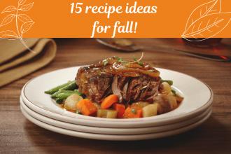 15 recipe ideas for fall
