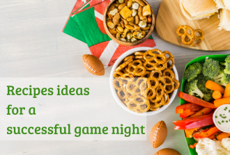 Recipes ideas for a successful game night