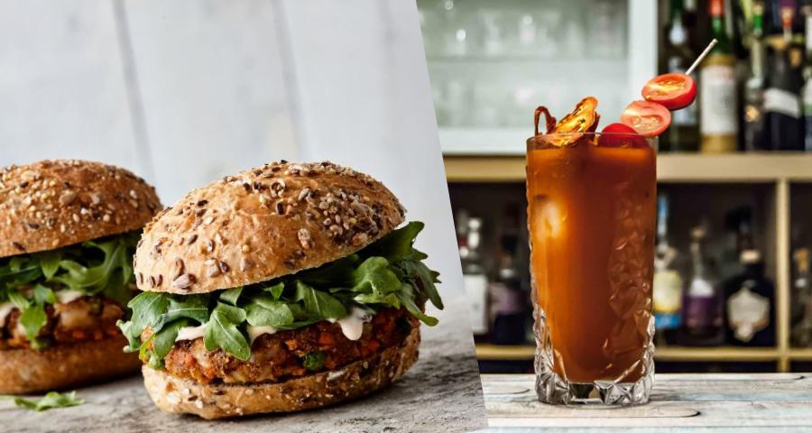 burger chou-fleur et bloody caesar