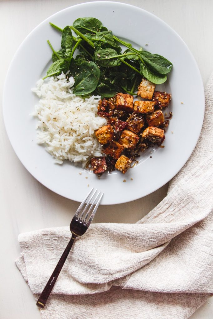 The thriving vegan - maple caramelized tofu