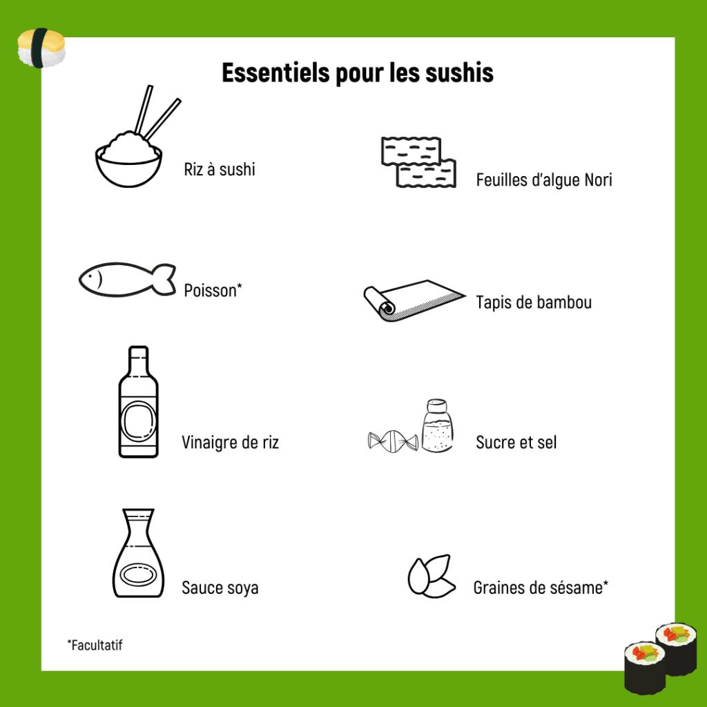 Essentiels pour les sushis