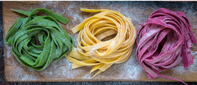 Comment faire pâtes fraîches colorées