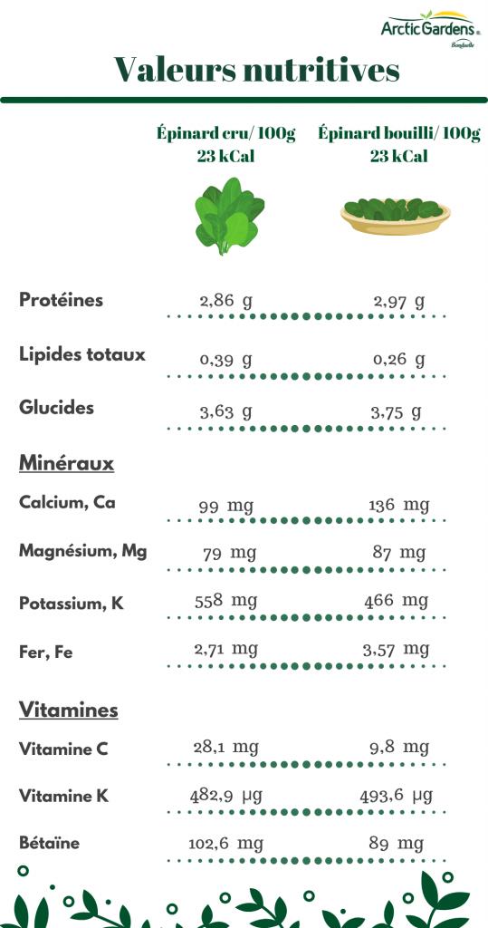 Épinards-valeurs-nutritives-Arctic-Gardens