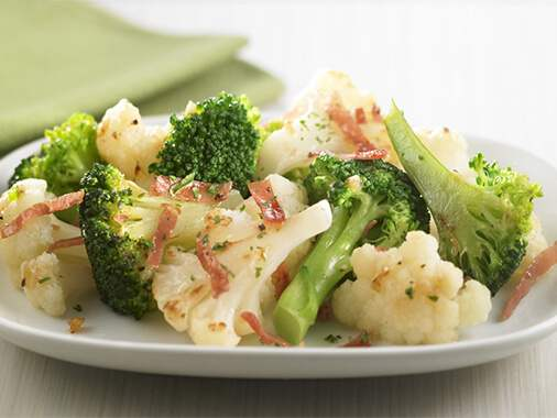 Roman Style Broccoli and Cauliflower