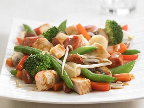 Vegetable & Sausages Asian Stir Fry