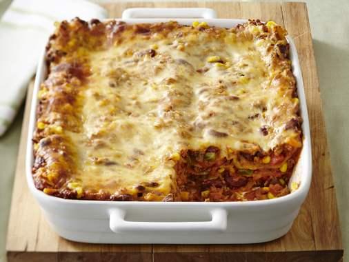 Chili lasagna