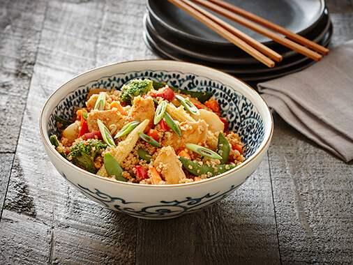 Quinoa au poulet et légumes