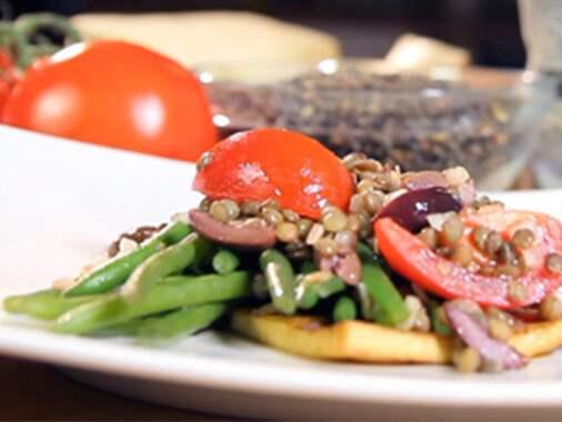 Salade de haricots extra fins aux lentilles